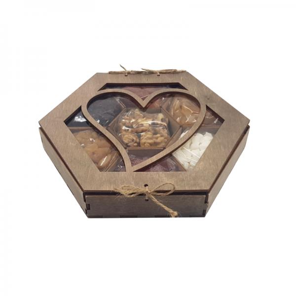 подарочный набор сухофруктов и орехов