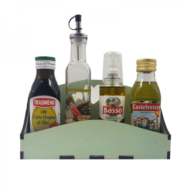 Оливковый набор на полочке